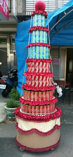 罐頭塔南投罐頭山-可指定台灣製造知名品牌飲料