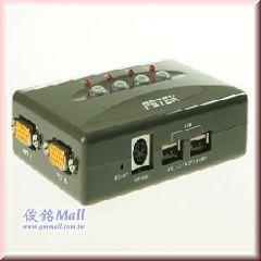 PSTEK CS-104U-B 4埠USB KVM