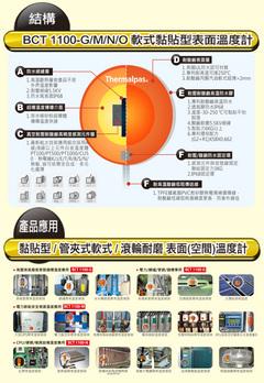 軟式黏貼型表面溫度計