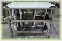 【3尺×2尺×台下2層 工作台】不鏽鋼