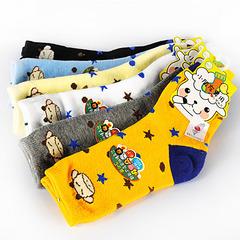 榭克絲 SOCKS, 牛寶寶提花止滑棉質短童襪