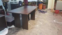 樂居二手家具E0916AJJH 胡桃木色五尺餐桌