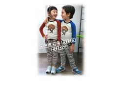 2011秋新款~小黑人棉T-藍(現貨)
