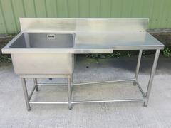 專收白鐵工作台、水槽、攤車、炒爐