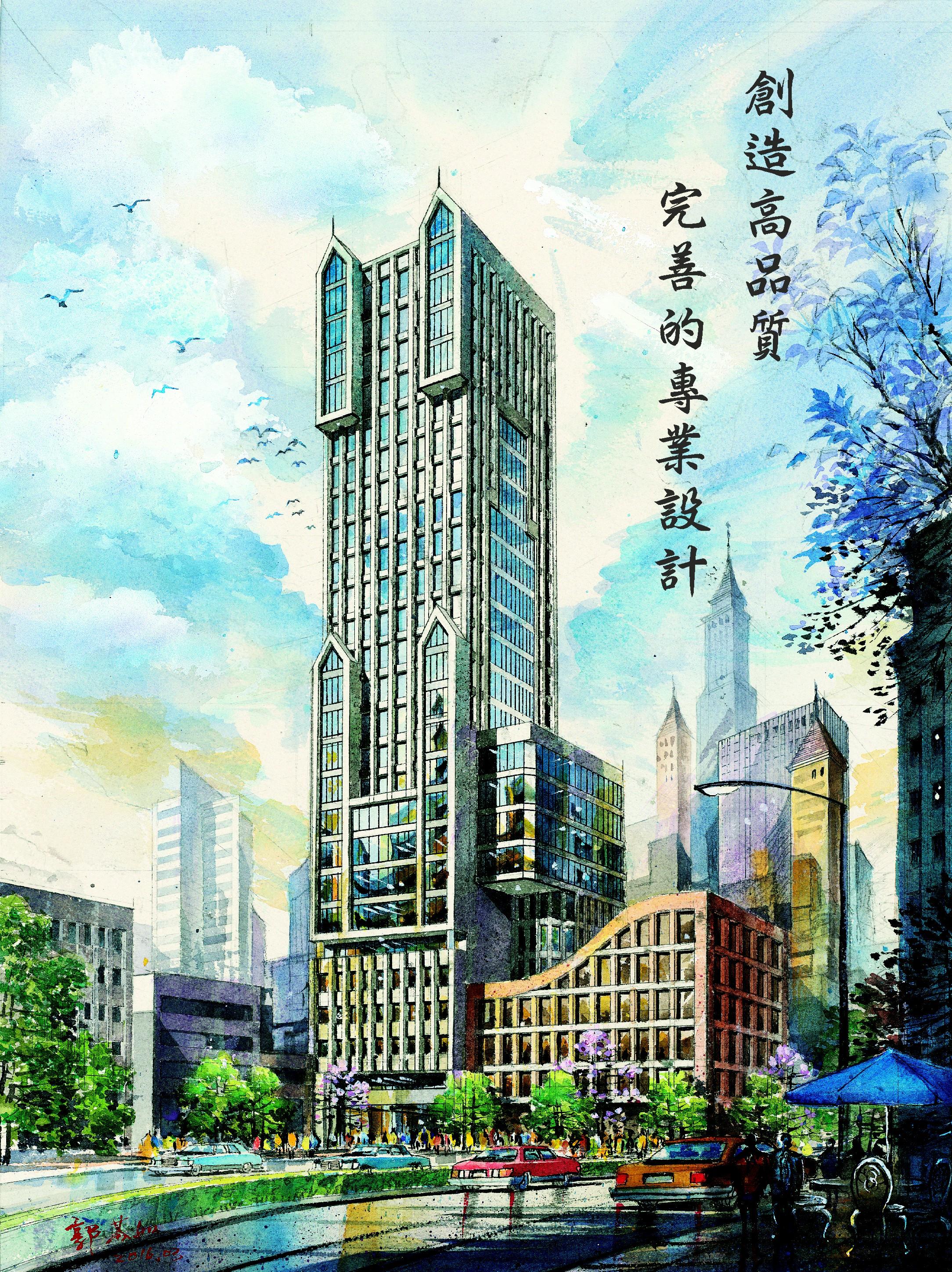 台北市 / 建筑世界3d透视图 郭恒妤钢笔针笔手绘0911