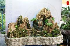 流水造景 假山水池 陽台造景 盆景 山水陶甕