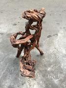 非凡二手家具 造型木雕花台架