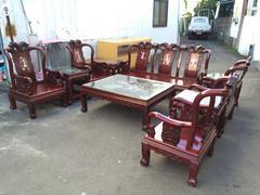 非凡二手家具 越南進口 紫檀木鑲貝戰國十件組