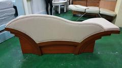 非凡二手家具 7尺 實木底布面貴妃椅