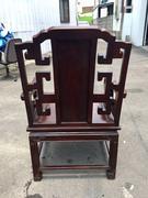 非凡二手家具 雞翅木仿古雕刻官帽椅
