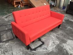 非凡二手家具 全新 橘紅色造型6.5尺 沙發床