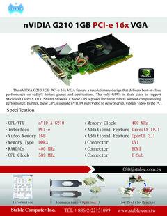 G210 1GB PCI-e 16x