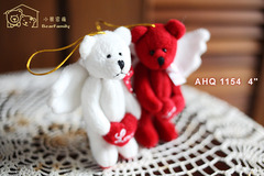 抱愛心情人天使小熊一對