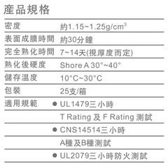 國碳科技防火填塞材料-防火填縫膠